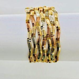 Jewelry - Gold Plated Semanario Bangle Size #5